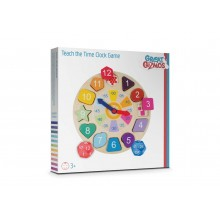 Great Gizmos Wooden Teach the Time Clock Game
