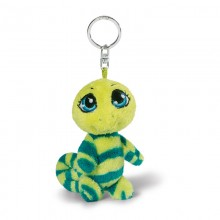 NICI Green Chameleon Bean Bag Keyring