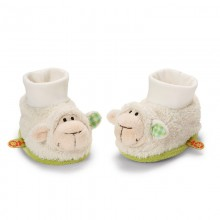 NICI Lamb Baby Booties with Rattle