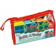 Meadow Kids Build a Train Wooden Threading Beads