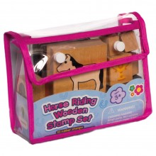 Meadow Kids Horse Riding Wooden Stamp Set