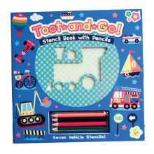 Meadow Kids Stencil Book - Toot and Go