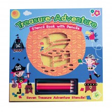 Meadow Kids Stencil Book - Treasure Adventure