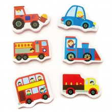 Meadow Kids Trucks and Trains Bath Stickers