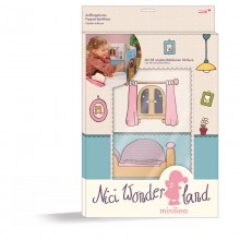 NICI Minilina Cardboard Playhouse Bedroom with Stickers