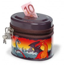 NICI Creatures Metal Money Bank with Zip
