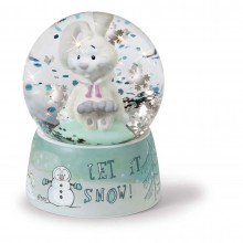 NICI Snow Rabbit Glitter Globe
