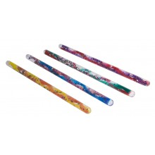 Spiral Glitter Wand 4 Pack Assorted Colours