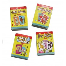 Mini Card Games 4 Pack Assorted Games