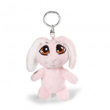 NICI Pink Rabbit Bean Bag Keyring