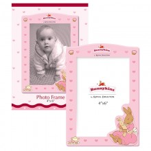 Bunnykins Pink Rectangular Wooden Photo Frame