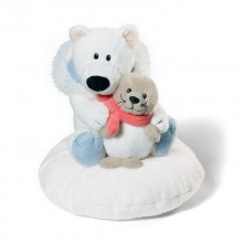 NICI Polar Bear and Seal Cushion