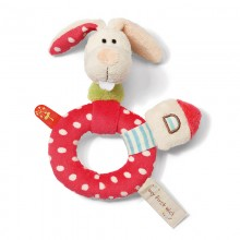 NICI Rabbit Ring Rattle