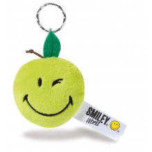 Smiley Apple Bean Bag Keyring