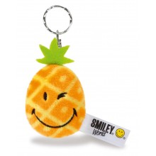 Smiley Pineapple Bean Bag Keyring