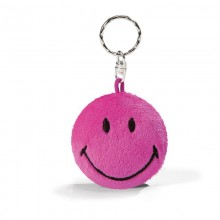 NICI Smiley Pink Bean Bag Keyring