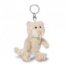 NICI Snow Leopard Girl Bean Bag Keyring