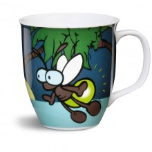 NICI Turquoise Glow in the Dark Firefly Mug