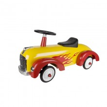 Yellow and Red Speedster Ride On