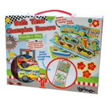 Meadow Kids Champion Racers Puzzle and Play Bath Toy