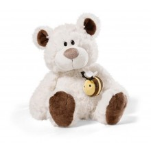 NICI Cream and Brown Teddy Bear with Bumblebee 35cm