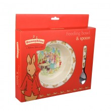 Running Bunnies Feeding Bowl and Spoon Set