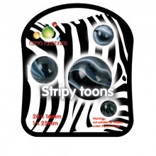 King Marbles Stripy Toons Classic Marbles