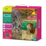 4M Young Minds 3D Floor Puzzles Safari