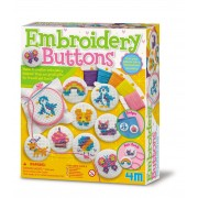 4M Embroidery Buttons Making Kit