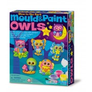 4M Mould and Paint Glow Owls