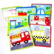 Meadow Kids Cars, Trains and Trucks Bath Puzzle