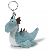 NICI Blue Sea Monster Bean Bag Toy with Keyring 10cm