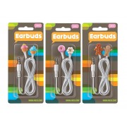 Earphones 3 Pack Assorted Designs