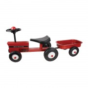 Red Tractor with Trailer Ride On