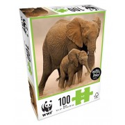 WWF 100 Piece Puzzle - Elephants