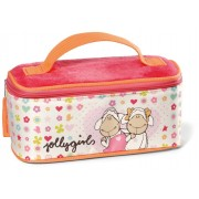 NICI Jolly Amy and Frances Sheep Nylon Cosmetic Case with Mirror